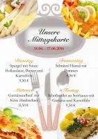 Das ist die Mittagskarte für diese Woche im Ristorante Il Cavallo:
