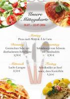 Diese Woche empfiehlt das Ristorante Il Cavallo folgende Gerichte: